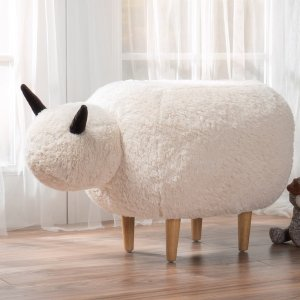 Pearcy Velvet Sheep Ottoman by Christopher Knight Home | Overstock.com Shopping - The Best Deals on Gliders & Ottomans
