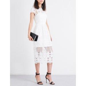 TED BAKER - Emilia geometric lace dress