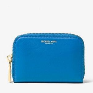 $76包邮(原价$190)MICHAEL Michael Kors Miranda French Calf 蓝色小卡包