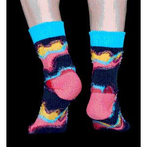 Special colors designed Furry Rave Socks at Happy Socks!