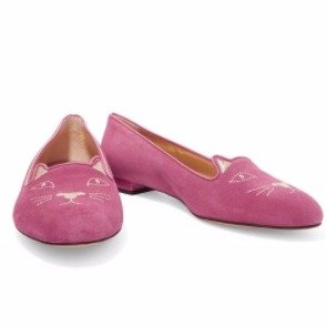 40% OffCharlotte Olympia Kitty embellished suede ballet flats