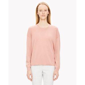 TWIST-BACK粉色毛衣