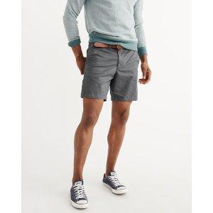 Mens Plainfront Shorts | Mens New Arrivals | Abercrombie.com