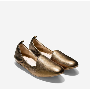 Womens Tali Loafer Ballet Flats in Gold | Cole Haan