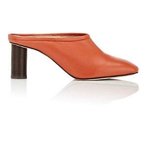Leather Square-Toe Mules