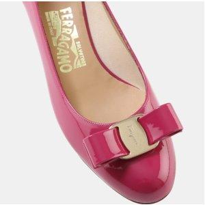 Salvatore Ferragamo Vara Patent Bow Pump Heels | ELEVTD Free Shipping & Returns