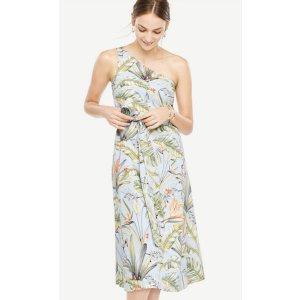 Tropical 露肩连衣裙