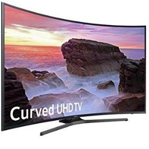 $799.99 送$300礼卡Samsung 55吋 曲面4K 超高清LED智能电视
