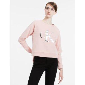 iridescent logo cropped sweatshirt | Calvin Klein