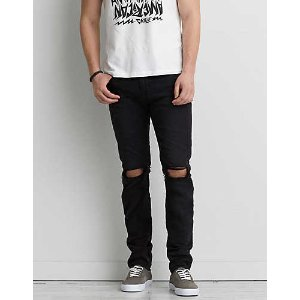 AEO Extreme Flex Skinny Jean, Black Wash | American Eagle Outfitters