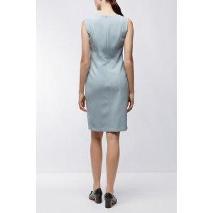 Crepe Shift Dress | Delafea