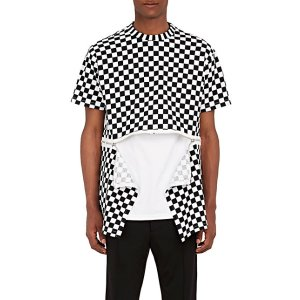 Givenchy Zipper-Detailed Checked Cotton Jersey T-Shirt | Barneys New York