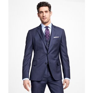 Regent Fit Three-Piece Slim Stripe 1818 Suit - Brooks Brothers