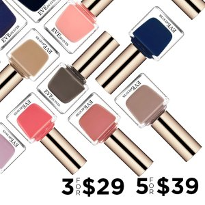 3/$29 or 5/$39 (1/$18.8 Value)Endless Color and Unlimited Options This Fall @ Eve By Eves