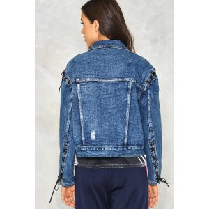 Cut Ties Lace-up Denim Jacket | Shop Clothes at Nasty Gal!