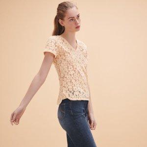 TROMPETTE Dévoré lace T-shirt - Tops & T-Shirts - Maje.com