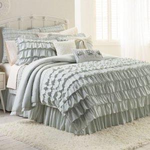 LC Lauren Conrad 棉质被罩+枕套 twin尺码