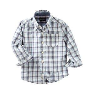 Toddler Boy Plaid Button-Front Shirt   OshKosh.com