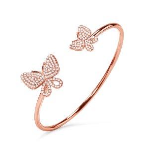 Wonderfly Rose Gold Plated Cuff Bracelet