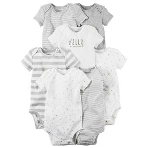 Baby Girl 7-Pack Short-Sleeve Original Bodysuits | Carters.com