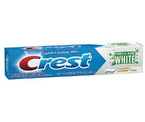 $0.79Crest Gleem Fresh and White Fluoride Anticavity Toothpaste Peppermint
