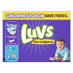 $15.23 平价好用Luvs婴儿尿布4段 160片