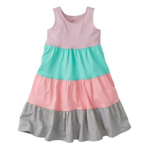 Hanna Andersson Purple & Turquoise Color Block Twirl Girl Racerback Dress | zulily