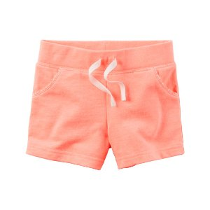 Kid Girl Neon French Terry Shorts | Carters.com