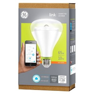 GE Link 65-Watt BR30 Smart LED Light Bulb : Target