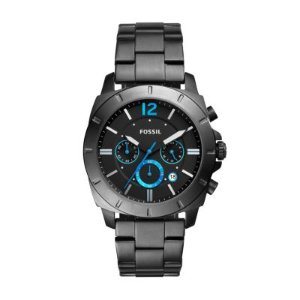 Privateer Sport Chronograph Smoke Stainless Steel Watch @ Fossil