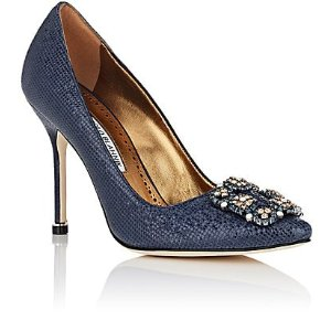 Hangisi Printed-Leather Pumps