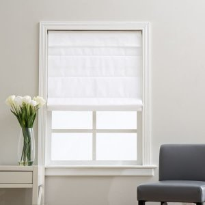 Arlo Blinds Cloud White Cordless Fabric Roman Light Filtering Shade | Overstock.com Shopping - The Best Deals on Blinds & Shades