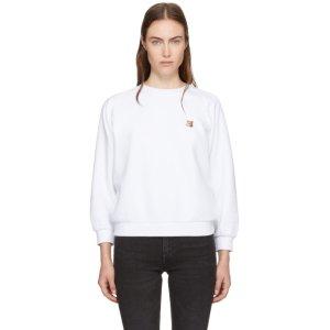 Maison Kitsuné - White Fox Head Patch Sweatshirt