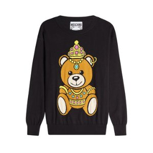 Printed Cotton Pullover - Moschino | WOMEN | US STYLEBOP.COM