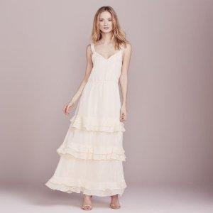 LC Lauren Conrad Dress Up Shop Collection Metallic Tiered Ruffle Dress - Women's