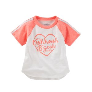 Toddler Girl Neon Raglan Logo Tee | OshKosh.com
