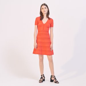 Elasticated Knit Dress - Dresses - Sandro-paris.com