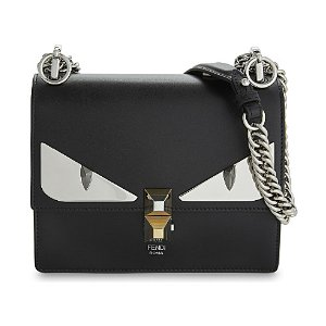 Kan I monster leather shoulder bag