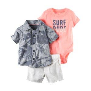 Baby Boy 3-Piece Neon Little Short Set | Carters.com