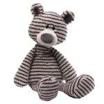 GUND Zag 条纹小熊毛绒玩具 -长16 英寸(41cm)