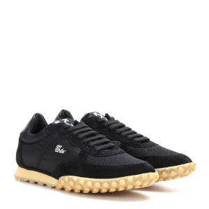 Off-White - Vintage Runner suede and fabric sneakers