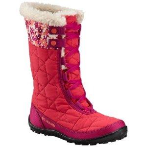 Columbia儿童防水保暖高筒雪地靴
