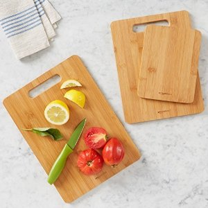 $9.99 AmazonBasics 3-Piece Bamboo Cutting Board Set