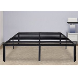 Lowest price!Olee Sleep 14 Inch Tall T-2000 Round Edge Steel Slat Bed Frame 14BF08K