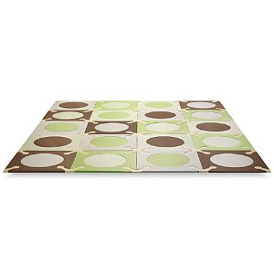 SKIP*HOP® Playspot Green and Brown Interlocking Foam Tiles