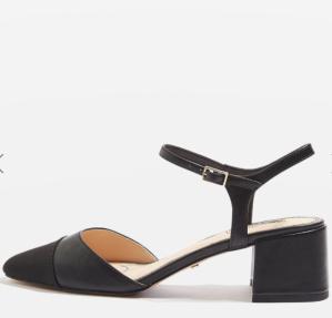 $30JOLENE Toe Cap Block Heels