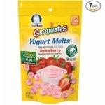Gerber Graduates 酸奶溶豆 草莓果味 7包