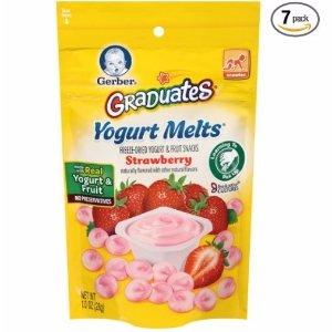 $12Gerber Graduates Yogurt Melts, Strawberry, 1 Ounce (Pack of 7)
