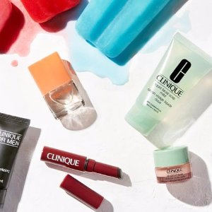 Pick 4 free minis with any $40 purchase+ a pep-start duo with any $55 purchase @ Clinique