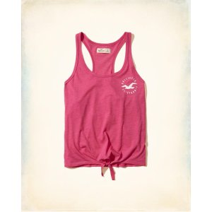 Girls Tie-Front Graphic Tank | Girls Up to 50% Off Summer Sale | HollisterCo.com